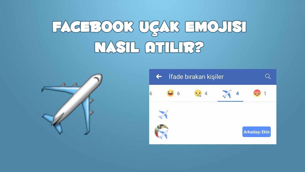 facebook uçak emojisi nasıl