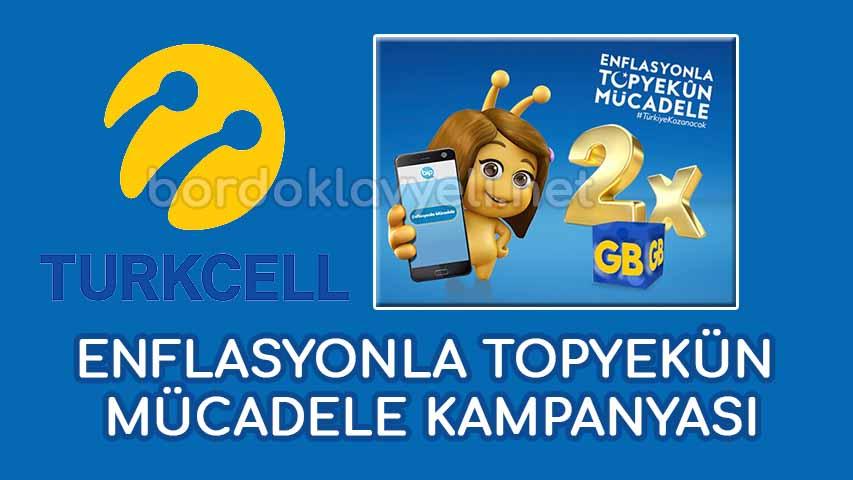 turkcell enflasyonla mücadele 2 kat gb kampanyası