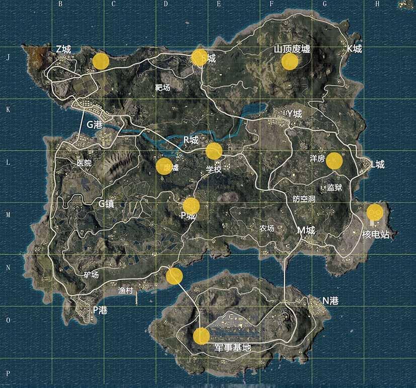 erangel haritası çin ejderhaları