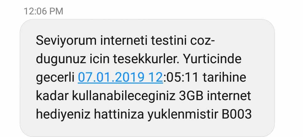 vodafone seviyorum interneti 3 gb bedava internet