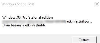 windows 10 etkinleştirme programsız