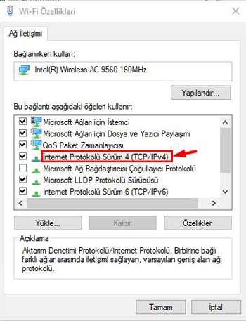 bilgisayar ip değiştirme