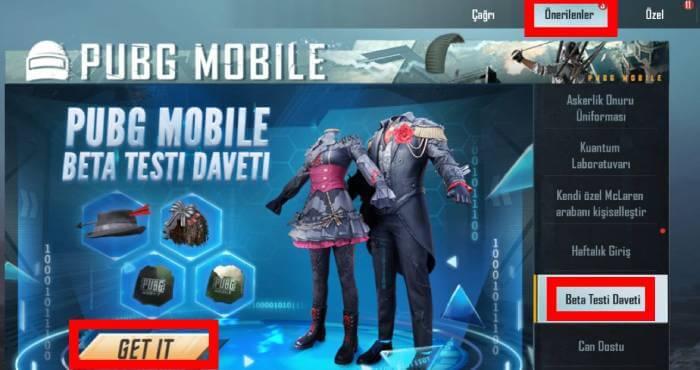 pubg mobile beta davet kodu